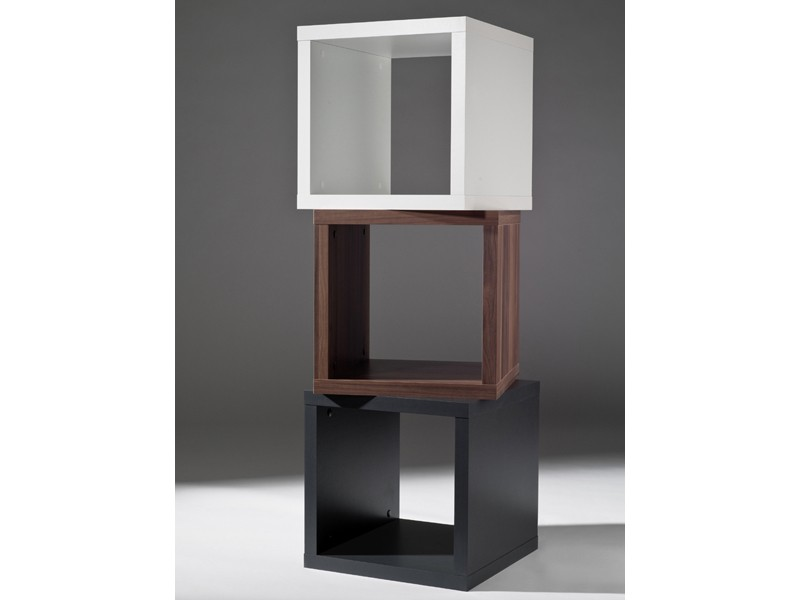 regalw rfel 2 st ck kubus beistelltisch stapelbar 40x40 wei matt ebay. Black Bedroom Furniture Sets. Home Design Ideas
