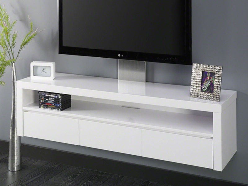tv regal sideboard wandh ngend 3 schubladen hochglanz wei sonderpreis ebay. Black Bedroom Furniture Sets. Home Design Ideas