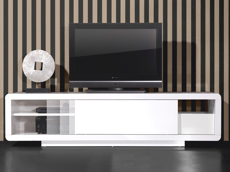 tv unterschrank lowboard fernsehschrank hochglanz lack wei sonderpreis ebay. Black Bedroom Furniture Sets. Home Design Ideas