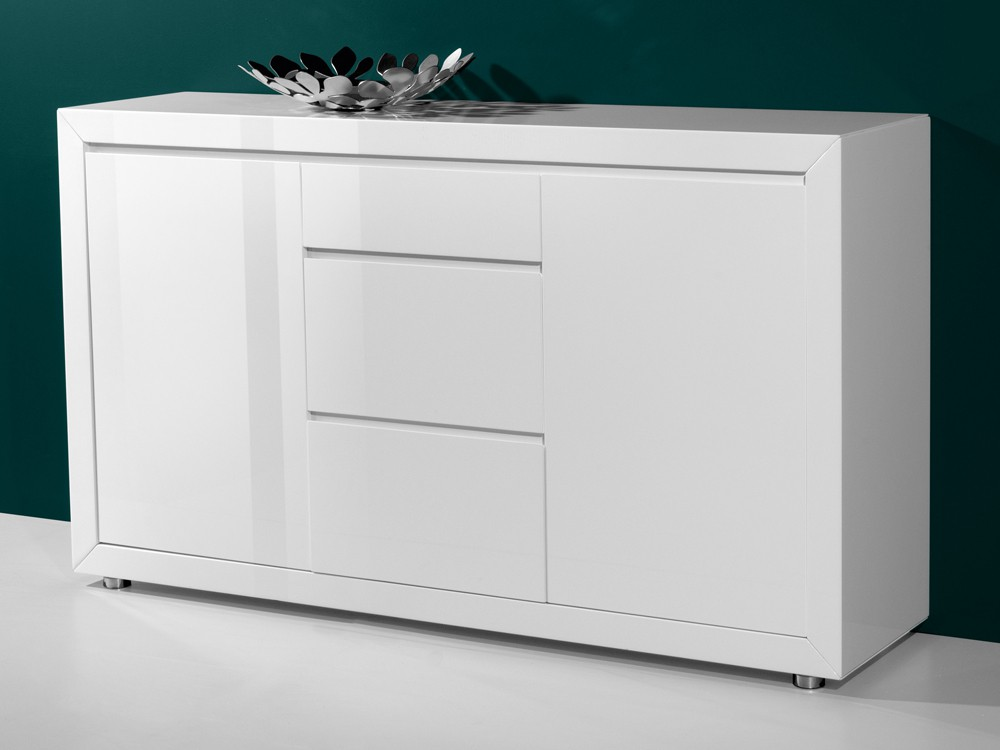 sideboard esszimmer kommode 154x90 hochglanz lackm bel wei ebay. Black Bedroom Furniture Sets. Home Design Ideas
