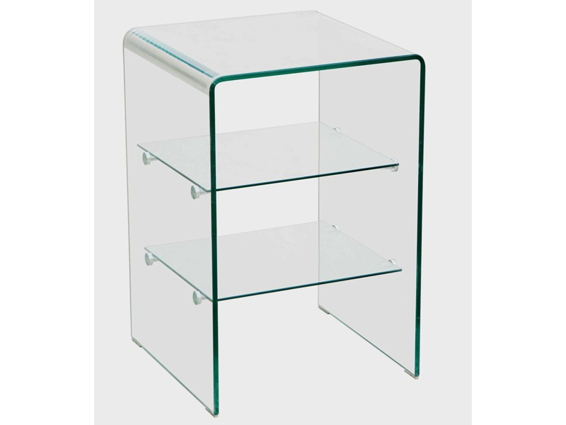 glasregal badregal formgebogenes klarglas 10mm einlegeb den modernes glasdesign ebay. Black Bedroom Furniture Sets. Home Design Ideas